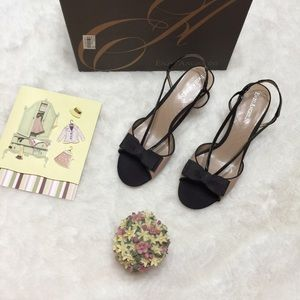 NIB Enzo Angiolini Sandals With Bow Size 6